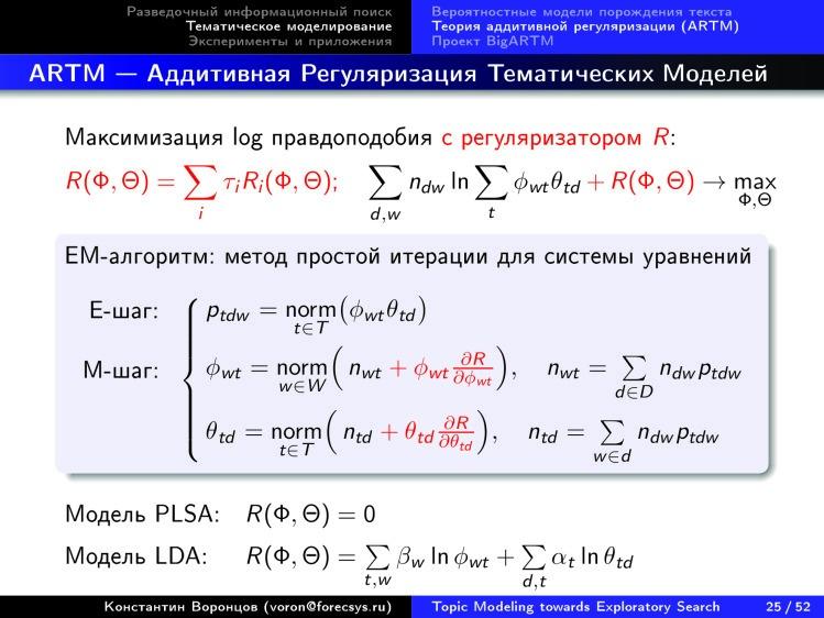 Тематическое моделирование на пути к разведочному информационному поиску. Лекция в Яндексе - 20