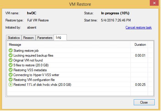 Восстановление контроллера домена из резервной копии с помощью Veeam - 2