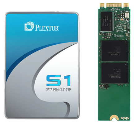Серия Plextor S1 включает SSD объемом 128 и 256 ГБ двух типоразмеров