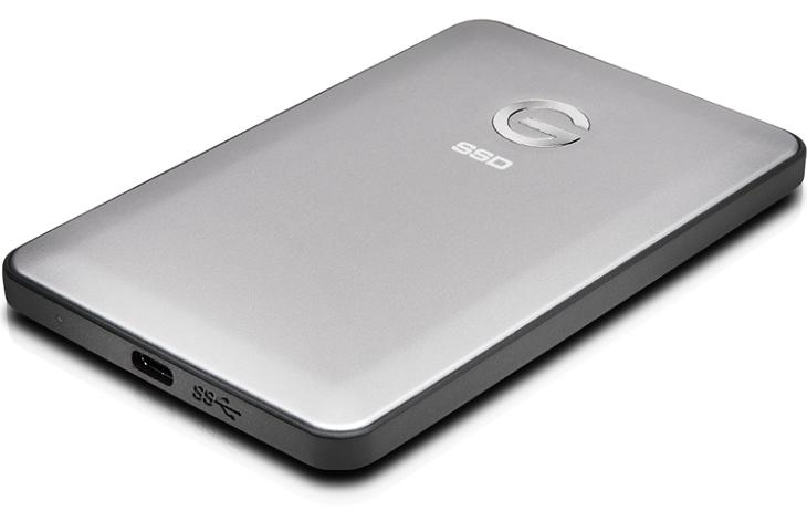 Накопители G-Technology G-Drive slim SSD USB-C заключены в алюминиевые корпуса