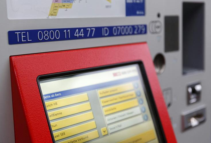 Государственной железнодорожной компании SBB принадлежит более 1000 автоматов по продаже железнодорожных билетов