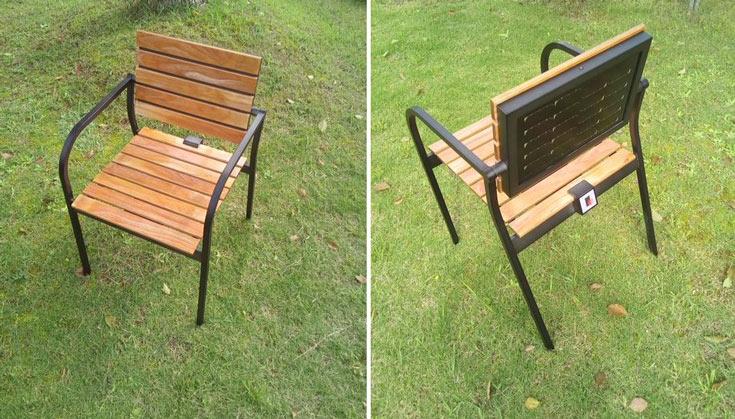 По мнению Sharp, зарядное устройство в форме кресла может найти применение в кафе