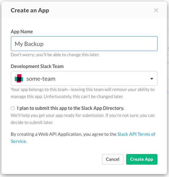 Как развернуть для своей команды архив slack сообщений c синхронизацией и поиском - 3