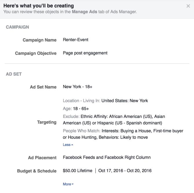 Рекламная система Facebook позволяет фильтровать аудиторию по расовой принадлежности - 3