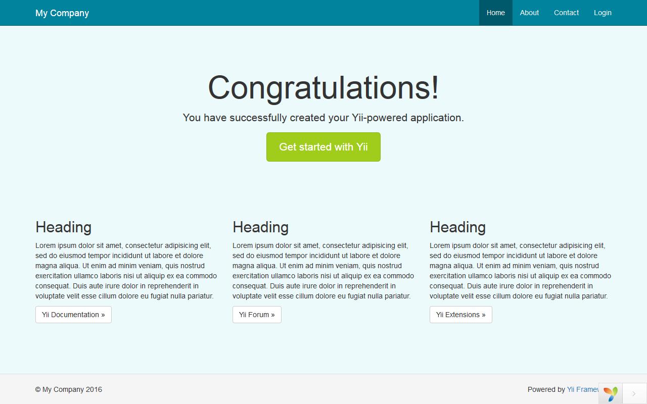 Yii2: Кастомизация Bootstrap с помощью Less - 2