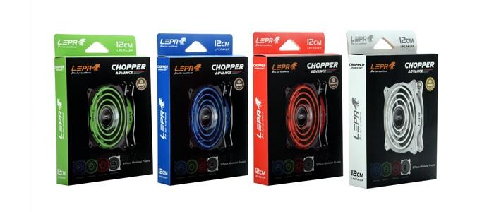 Корпусные вентиляторы Lepa Chopper Advance получили интересную систему подсветки