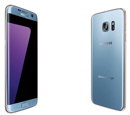 Смартфон Samsung Galaxy S7 Edge в цвете Blue Coral поступил в продажу раньше срока