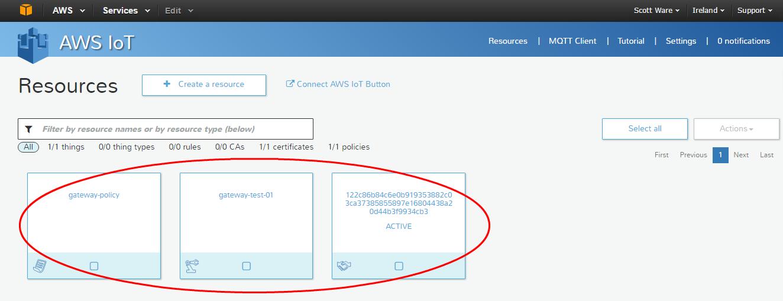 Подключение шлюзов Intel для интернета вещей к AWS и обмен данными с облаком при помощи Node-RED или Python - 18
