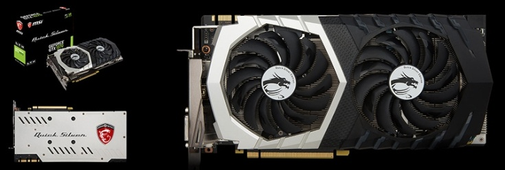 MSI представила видеокарты GeForce GTX 1070 Quick Silver