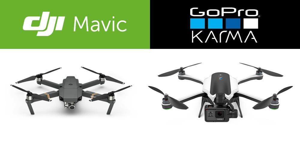 GoPro Karma vs DJI Mavic Pro: какой из двух складных дронов лучше? - 1