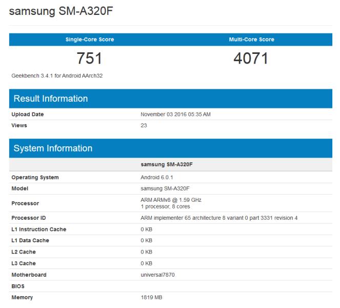 Samsung Galaxy A3 получит среднебюджетную SoC