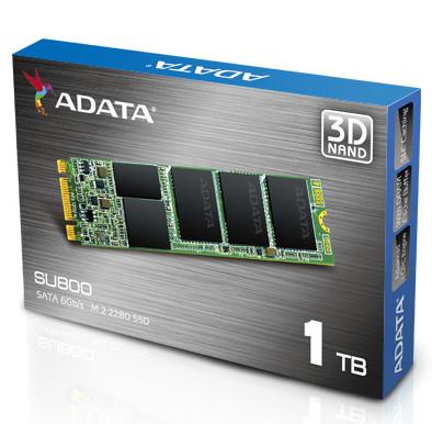 Твердотельные накопители Adata Ultimate SU800 M.2 2280 доступны в версиях объёмом до 1 ТБ