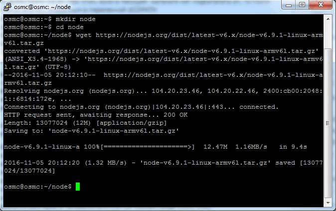 Установка node.js на Raspberry Pi - 5
