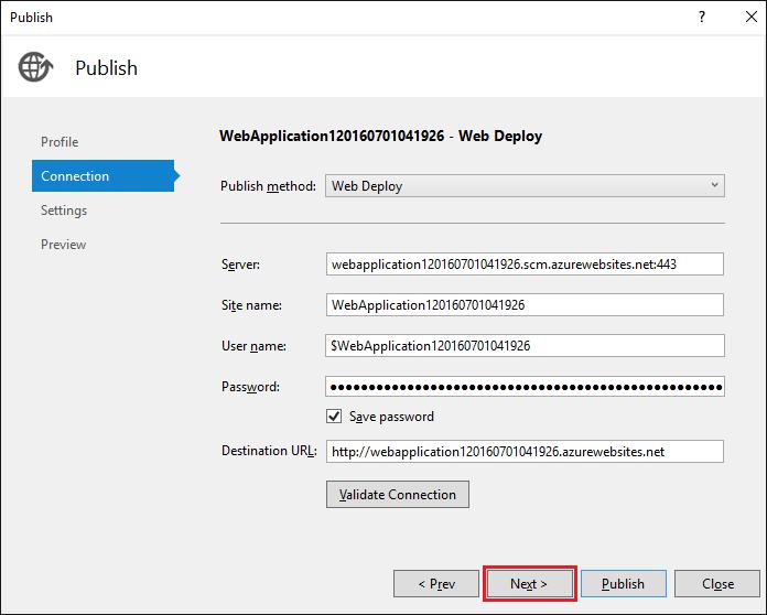 ASP.NET Core: Развертывание веб-приложения в службе приложений Azure с помощью Visual Studio - 16