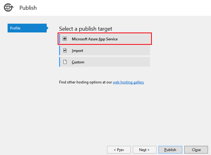 ASP.NET Core: Развертывание веб-приложения в службе приложений Azure с помощью Visual Studio - 8