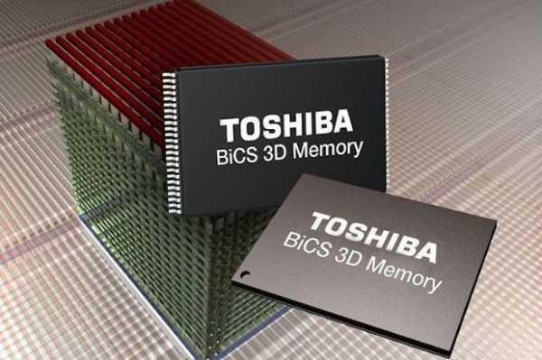 Toshiba расширяет производство флэш-памяти с объемной компоновкой