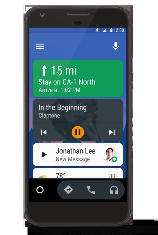 Функциональность Android Auto теперь доступна владельцам всех машин, у которых есть смартфоны