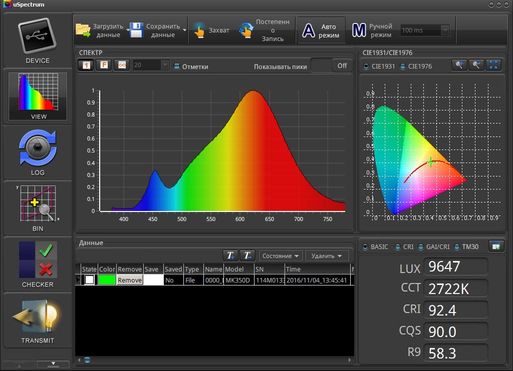 Самый маленький в мире спектрометр UPRtek MK350D - 11