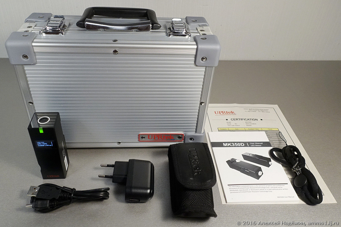 Самый маленький в мире спектрометр UPRtek MK350D - 5