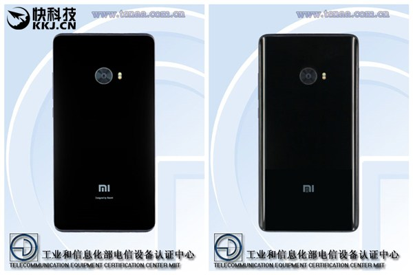 Смартфон Xiaomi Mi Note 2 с плоскими дисплеем и задней панелью замечен в TENAA