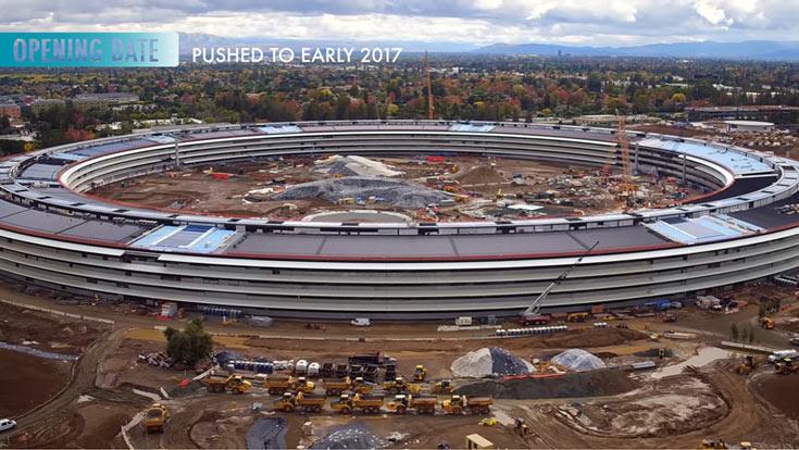 Ожидается, что сотрудники Apple въедут в новый офис в будущем году
