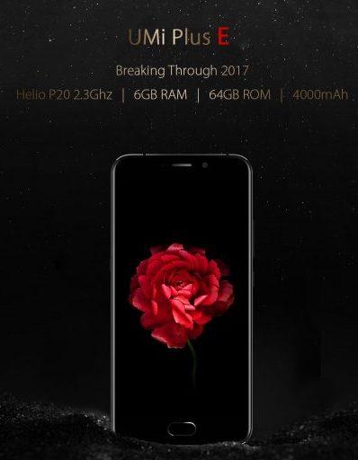 UMi Plus E — первый смартфон с SoC Helio P20 и 6 ГБ ОЗУ, который оценен в $199