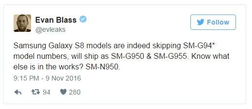 Эван Блэсс утверждает, что Samsung работает над Galaxy Note8