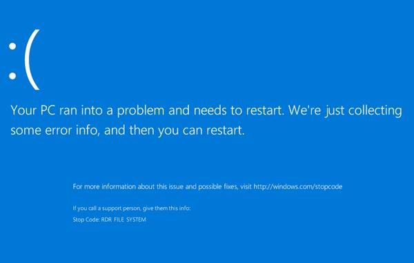 Синий экран смерти при копировании через Remote Desktop теперь доступен и на серверной платформе - 1