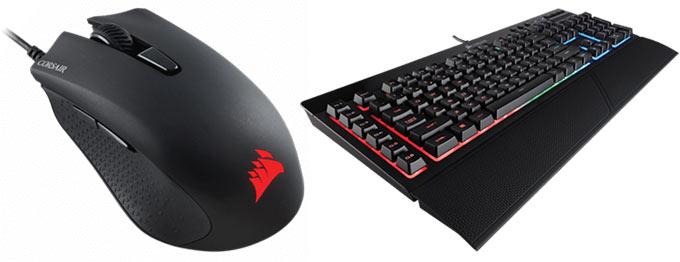 Продажи мыши Corsair Harpoon RGB и клавиатуры Corsair K55 RGB начнутся 11 и 22 ноября соответственно
