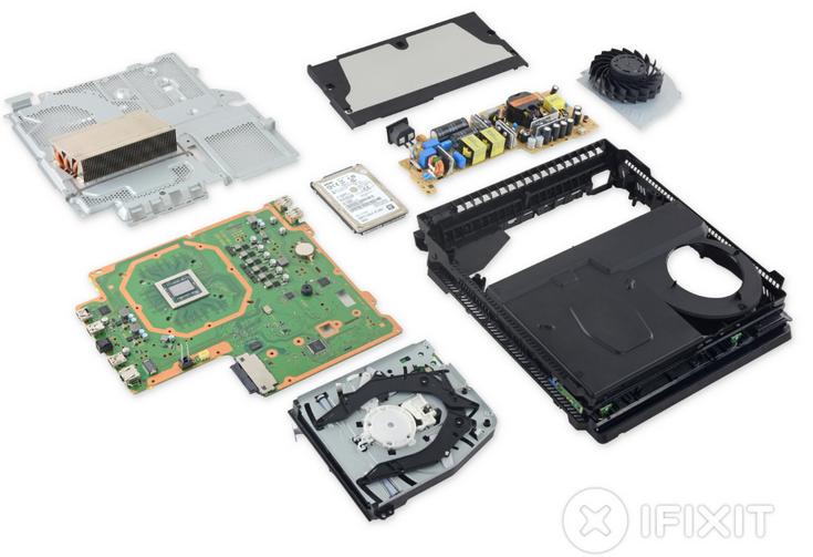 Приставка PS4 Pro заработала у iFixit восемь баллов