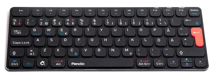В описании Penclic KB3 производитель отмечает низкий профиль клавиш и тихую работу клавиатуры