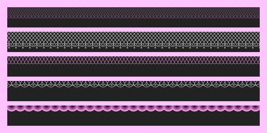 Кружевные орнаменты на CSS - 1