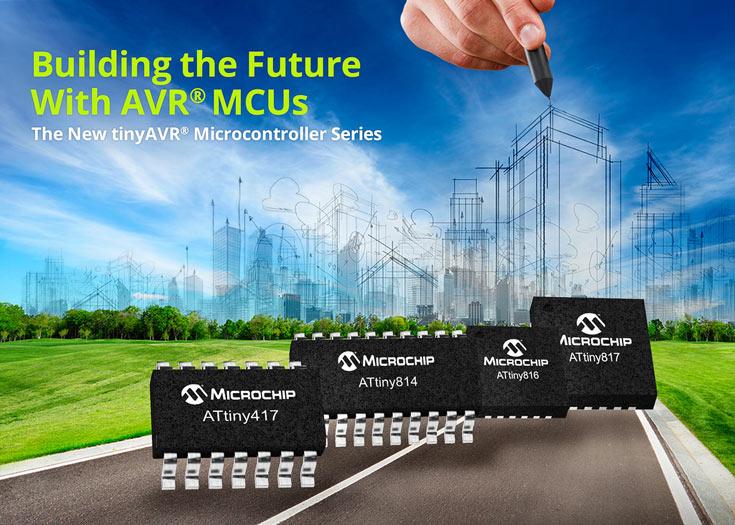 Новое поколение открыли модели Microchip ATtiny817, ATtiny816, ATtiny814 и ATtiny417