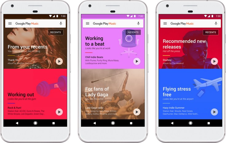 Google ощутимо переработала сервис Play Music
