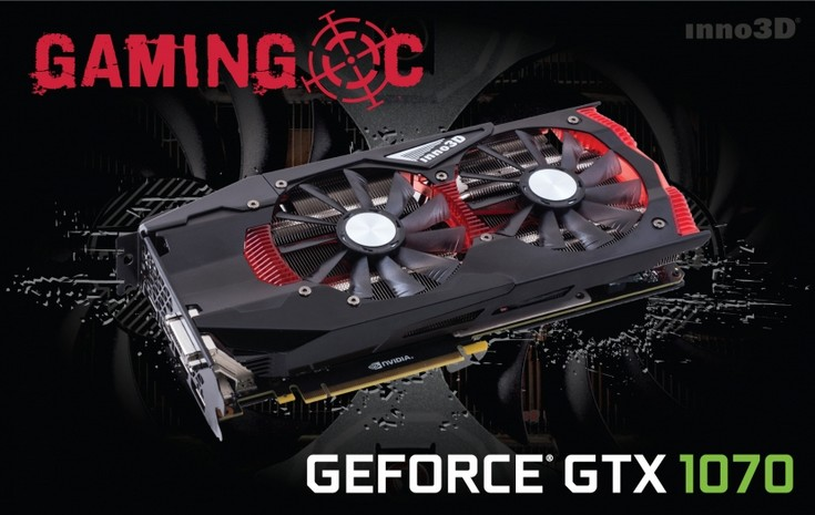 Inno3D представила две карты GeForce GTX 1070