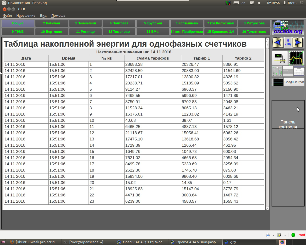 Пишем протоколы счетчиков Меркурий 230 и Меркурий 200 для OpenSCADA - 28