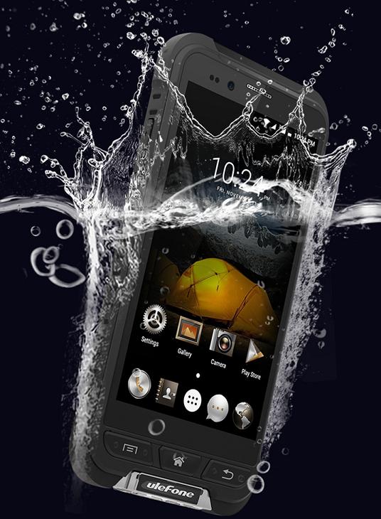 Смартфон Ulefone Armor также поддерживает управление мокрыми пальцами