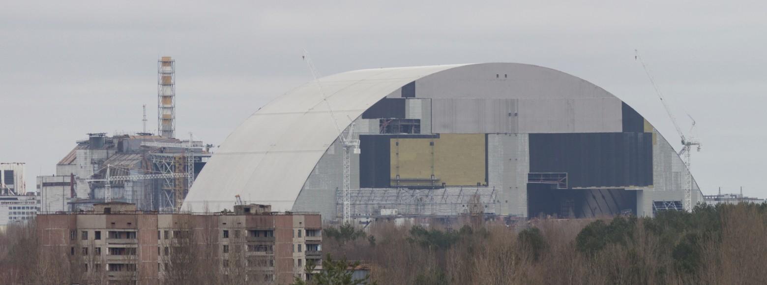 Укрытие-2 надвигают на 4-й энергоблок ЧАЭС - 3