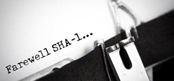 Farewell SHA-1