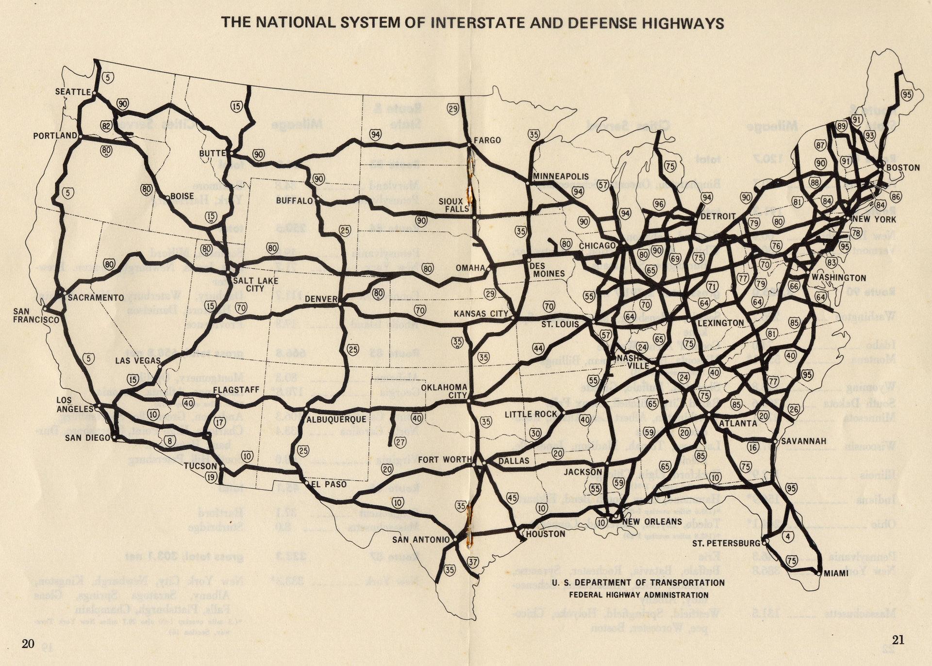 Нумерация дорог США и математика - 2