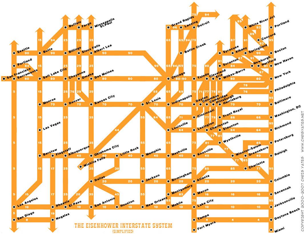 Нумерация дорог США и математика - 3