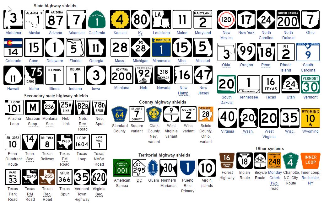 Нумерация дорог США и математика - 1