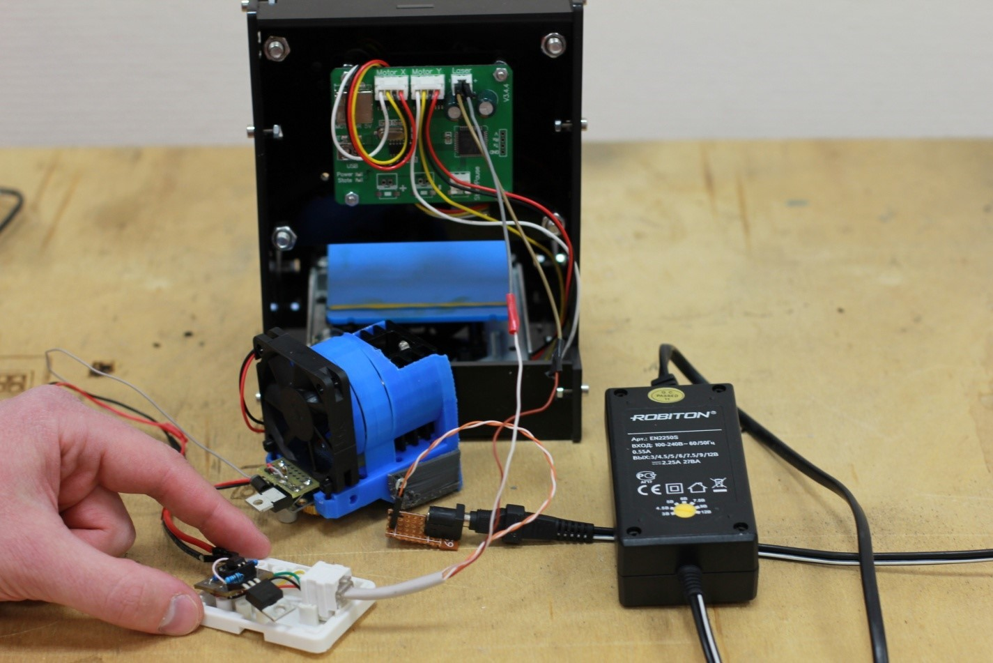 Как подключить полупроводниковый лазер мощностью более 1 Вт (1000 мВт) к 3D-принтеру, ЧПУ станку, координатному столу - 4