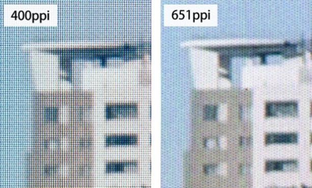 Высокая плотность делает неразличимыми отдельные пиксели