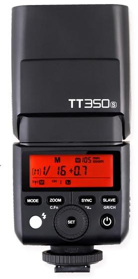 Размеры вспышки Godox TT350S — 140 х 62 х 38 мм