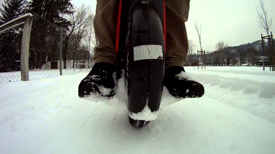 Моноколесо зимой - 1
