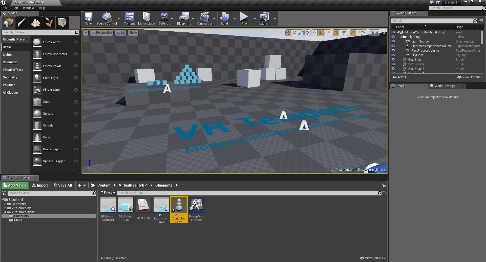 Создаём простейшую VR-демку с Unreal Engine - 6