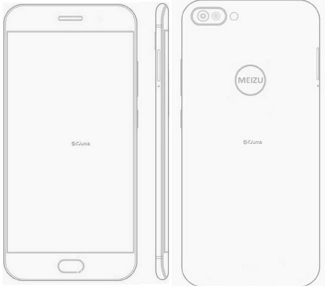 Опубликованы эискизы нового смартфона Meizu с изогнутыми панелями