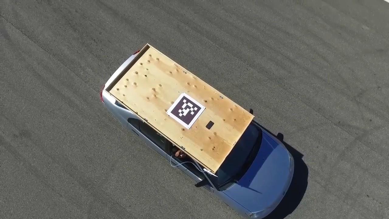 Мультикоптеры научились подсаживаться на крыши движущихся автомобилей - 2