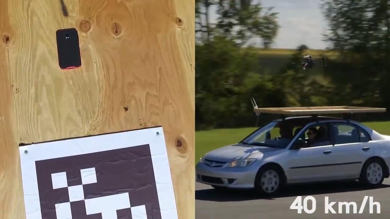 Мультикоптеры научились подсаживаться на крыши движущихся автомобилей - 3